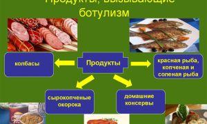 Употребление каких пищевых продуктов приводит к ботулизму