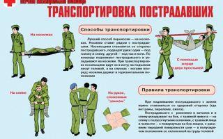 Виды и порядок транспортировки пострадавших