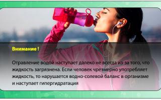Отравление водой и симптомы гипергидратации