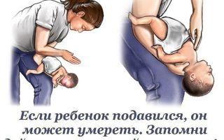 Что нужно делать если младенец подавился и задыхается
